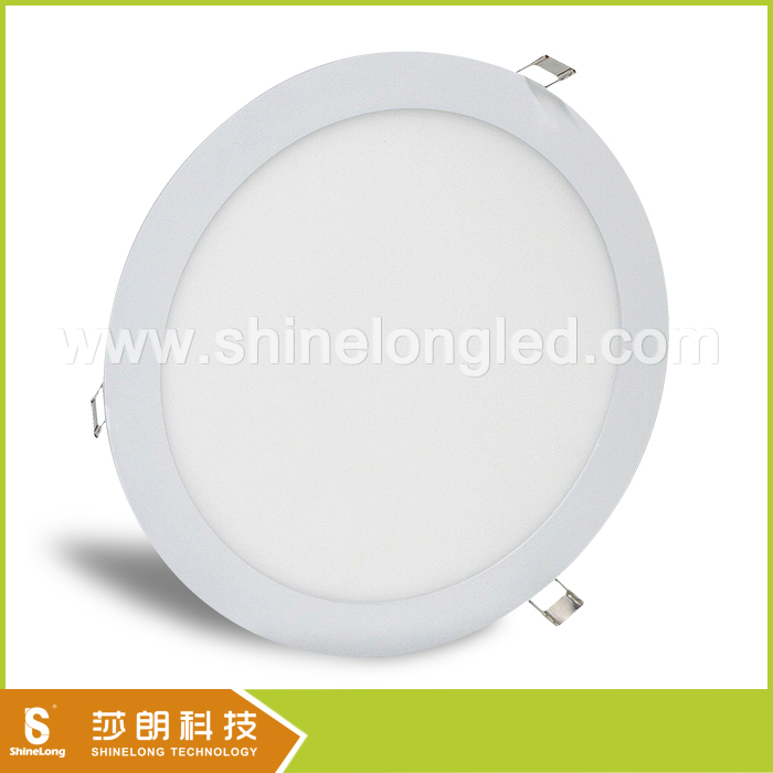 White Black Silver colour round led panel light be used to home or offices lighting