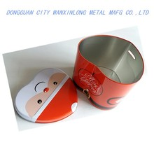Heart shaped Christmas present metal candy tin box