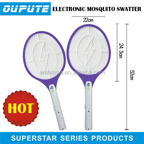 Plastic rechargeable electric mosquito killer powerful mosquito bat 8006
