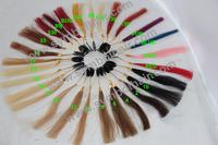 Actual human hair color ring / color swatch