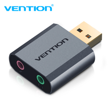 External USB Audio Adapter Sound Card with Stereo Headphone Speaker