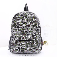 custom canvas Korea printed innovative skull backpack