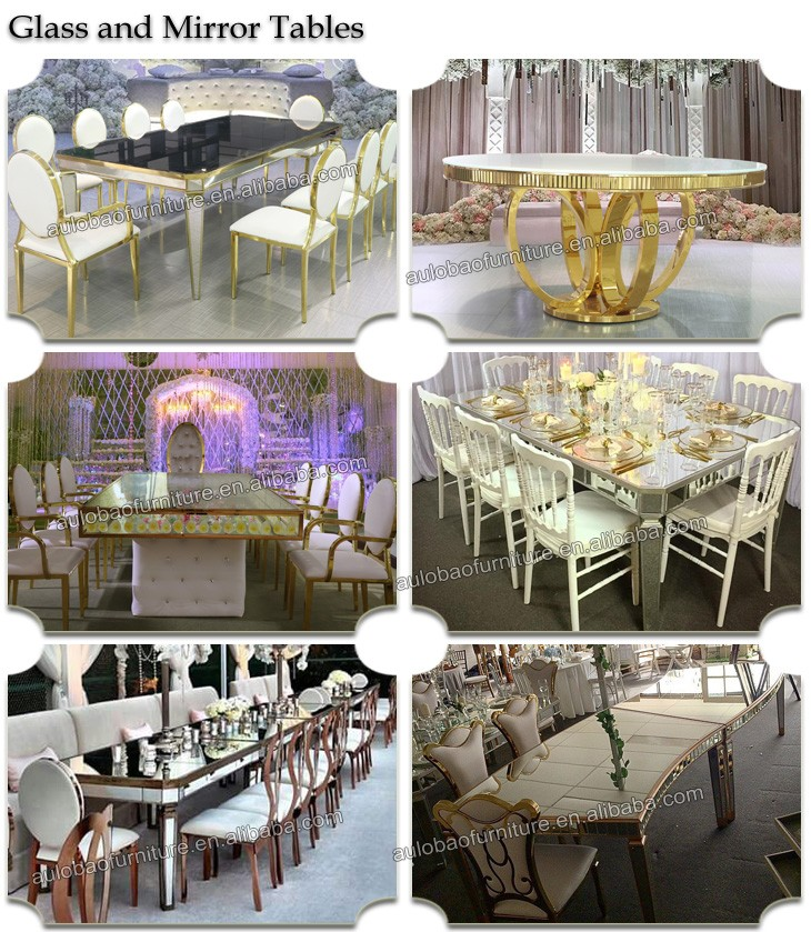 Cheap party used luxury crystal tables and chairs for sale
