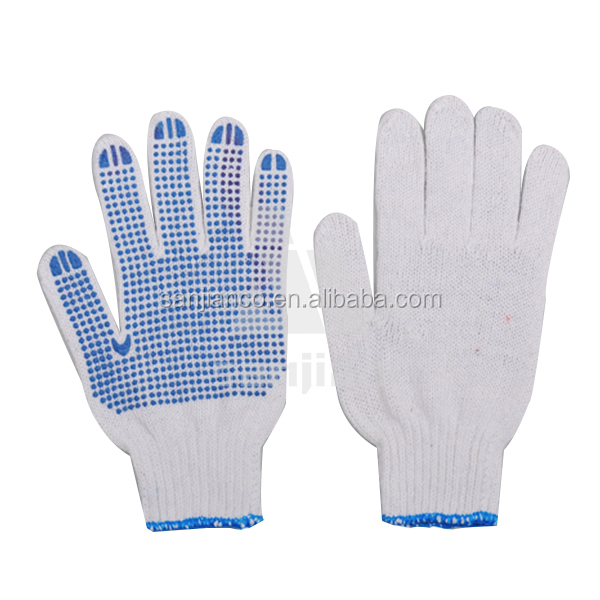 machinist working gloves pvc coated work gloves polka dot gloves dotted glover