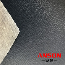 knitted backing pvc synthetic leather fabric for making lady handbag