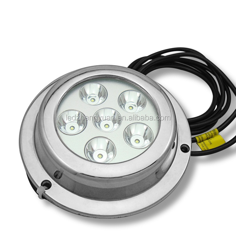 Round Stainless steel IP68 316 underwater 12v 18W led fishing light CE&RoHS best underwater led waterproof boat lights
