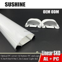 LED Linear light housing, led tunnel light housing, led tube housing with PC Cover and Aluminum profile