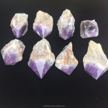 wholesale natural large rough cut purple crystal amethyst spire gemstones
