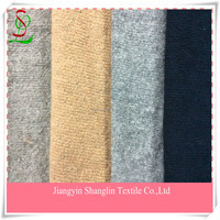 Knit wool fabric for overcoat