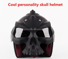2017 new model cool personality skull motorcycle open face helmet