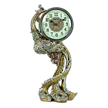 Peacock desk table clock decoration for home 1470NY
