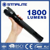 STARLITE 1800 lumens IPX7 flash torch light long range