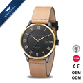 2016 New Quality OEM Mens Quartz Leather Wrist Watch with Japan Movement