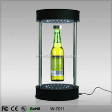 New design acrylic magnetic floating beer bottle display&High qualities levitation beer bottle