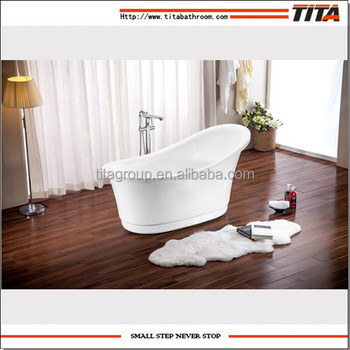 Classic cheap acrylic small bathtub freestanding