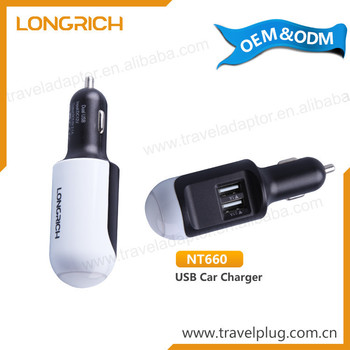 Promotional Wholesale 12V Mobile Universal Mini Portable Dual Usb Car Charger