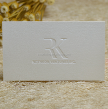 The latest high quality clear cotton paper letterpress business cards
