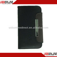 For New iphone 5 5G 6th Gen Folio PU Leather Wallet Card Flip Case Cover black