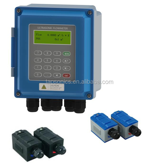 RS485 MODBUS 4~20mA Pulse OCT Relay Output Digital Display ABS Body IP67 Ultrasonic Water Flow Meter