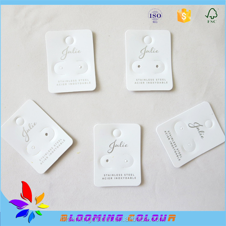 China wholesale custom printed earring hanging card