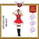 Hot Sales Sexy Santa Lady Costumes Sexy lingeries for Christmas