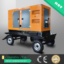 150kw trailer silent generators with Four wheels movable gensets