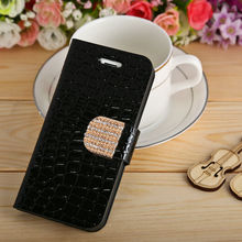 For Apple iphone 5G PU Wallet Book Leather Black Phone Case