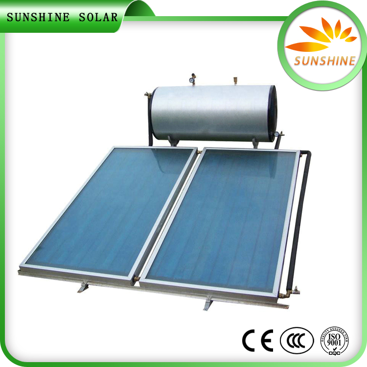 pressure solar water heater with water storage tank, direct plug solar water heater