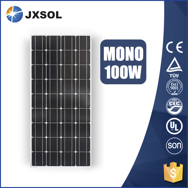 Monocristalino 100 watt solar panels for solar mounting system