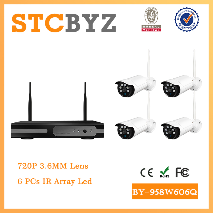 8ch wifi 720P cctv Outdoor 1 MP IP Camera eight channel wireless nvr kit