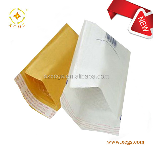 Cheap 6X10 white kraft bubble padded mailers with Self Sealing