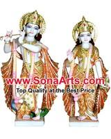Radha Krishna murti from marble Stone