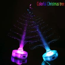 Simulation Christmas tree Colorful LED night light fiber optic Christmas tree Christmas decorations for home