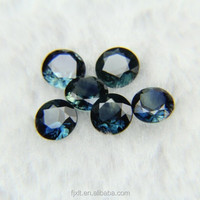 5mm round brilliant cut gemstone rough sapphire