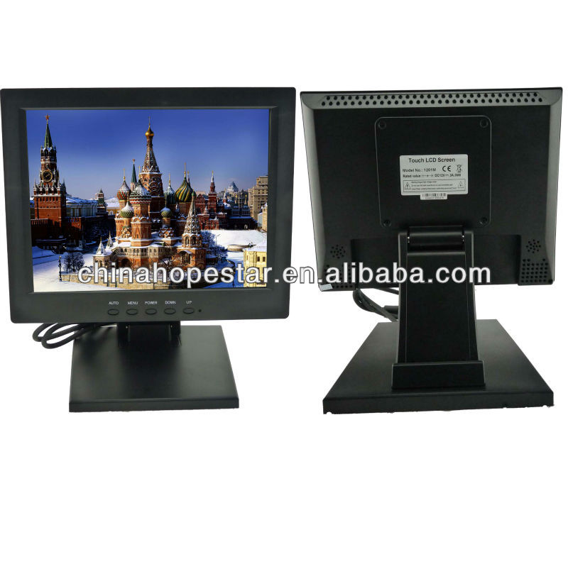 High Resolution 12 Inch LCD Touch Screen Monitor