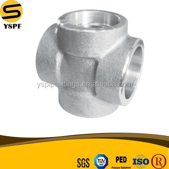 ASTM A105 Forged Carbon Steel Pipe Fitting Threaded 4 Inch Cross Class 2000 3000 6000