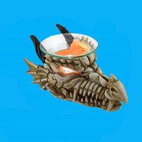 Horned Dragon Skull resin Oil Warmer