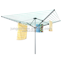 Cheap steel rotary clothes airer with large drying space