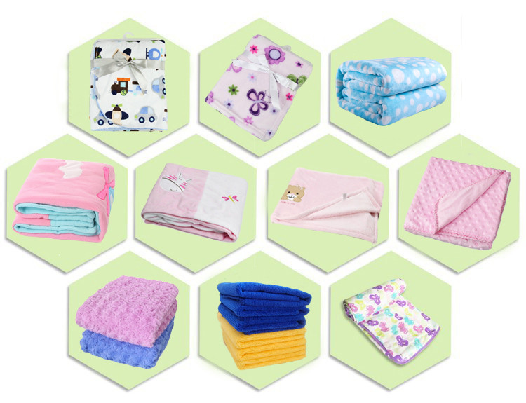 PB86 100% Cotton Knit Throw Baby Waffle Blankets