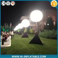 Diameter 1m inflatable led advertising lighting tripod ball/balloon