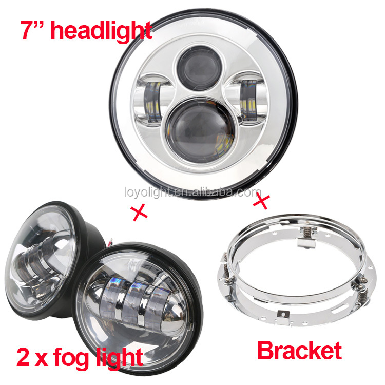 "Wholesale 4 1/2"" motorcycle LED fog light 4.5 inch 4.5"" motorcycle passing light for Harley Davidson"