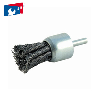 Twist knot steel wire Stem-Mounted end brush
