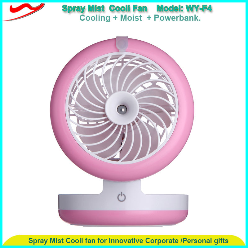New technology plastic battery power portable cooling travel handheld usb small mini rechargeable mist fan