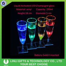 Plastic Promotional Flashing Drinking Glass, Led Drinking Cup, Flashing Drink Cup