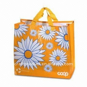 Flower printed non-woven recycle bag