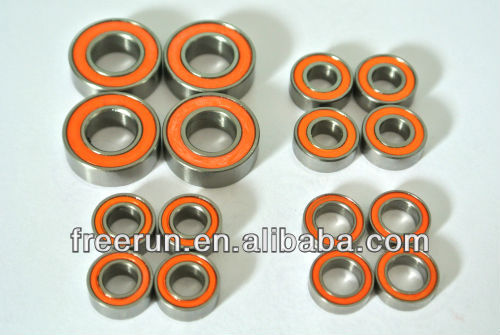 High Performance ELCON MODELS MMX CAR ceramic bearing kits with different rubber seal color