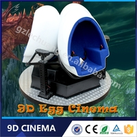 Electric Platform High Return 360 Degree Rotation Single or Triple Chairs VR 9D Theatre With Shooting Games