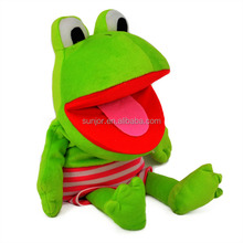 Hot selling different design happy soft plush stuffed toy with frog