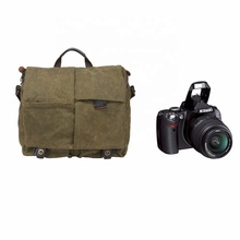 vintage style sling shoulder canvas video dslr camera bag