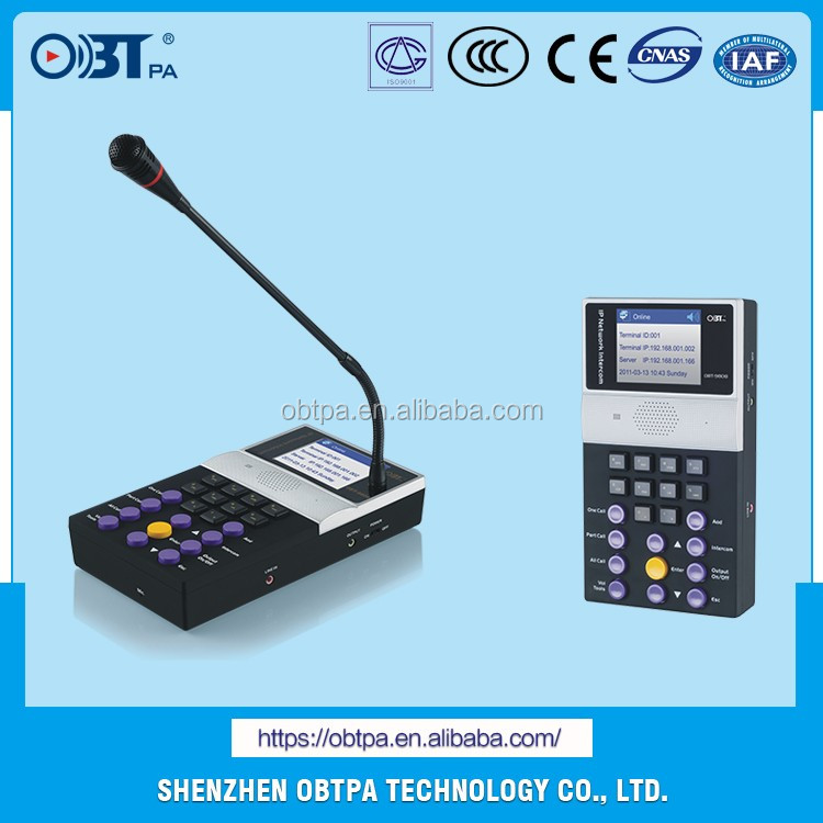 OBT-9808 IP Network Paging Microphone for Public Address Intercom System